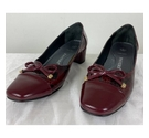 Pavers Heeled Court Shoes Wine Size: 8