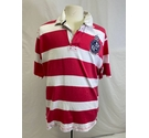 Crew Clothing loose fit polo Pink and White Size: XXL
