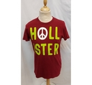 Hollister Short Sleeve T-Shirt Red Size: S