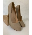 Barratts Court Shoes in Beige Size: 6