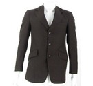 Frank Sheridan single-breasted jacket dark brown Size: XS