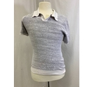 Reiss Polo shirt with white collar Grey Size: S