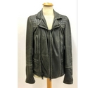 All Saints Leather Jacket Black Size: XS