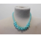 Fifties necklace with pale blue and greenish tone beads