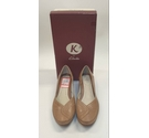K by Clarks Leather Court Shoes Tan Size: 6.5