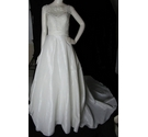 "BNWT Watters Wtoo Bridal A-Line Lace and Taffeta ""Chase"" Wedding Dress Ivory Size 6"