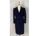 Savoy Taylors Guild Taylored Fit Cashmere Coat Navy Size: M