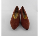 Donald J Pliner Smart Suede Court Shoes Brown Size: 5