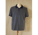 Michael Kors polo neck shirt top designer spotted stripe blue white Size: XL