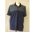 Ted Baker golf polo neck shirt top spotted print graphic spor blue navy Size: XXL
