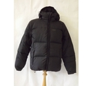 decathlon wedze feather down padded puffer hiking jacket plain black Size: M
