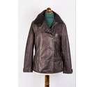 John Partridge Leather asymmetric Jacket Chocolate Size: S