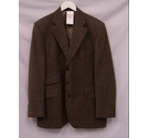 Aquascutum Check Jacket Brown Mix Size: L