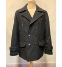 Feraud Black pea coat in Size 40 Black Size: L