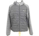 Ellesse Quilted Jacket Black Grey Size: XXL