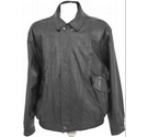M&S Marks & Spencer Leather bomber jacket Black Size: L