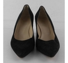 Hobbs Suede Court Shoes Black Size: 7
