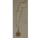 Vintage Silver filigree flower pendant and necklace 800-925