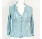 Boden Knitted Cardigan Duck Egg Blue Size: M