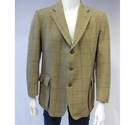 Tufnell Tweeds Wool Country Jacket Green Size: L