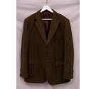 Brook Taverner Tweed Jacket Brown Mix Size: L