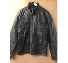 Buxter Padded Leather Jacket Black Size: L