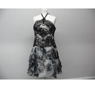 Marchesa Notte beautiful floaty floral dress black and white Size: 12