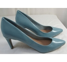 M&S Collection High Heeled Court Shoes Light Blue Size: 9