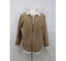 Mountain Pass Faux suede casual jacket beige Size: L