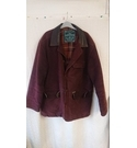Rodd & Gunn Brushed Leather Jacket Burgundy Size: L
