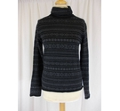 Laura Ashley Winter Jumper with Polo Neck Black Size: M