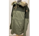 Fjall Raven Pullover Hooded Rain Jacket Green Size: XXL