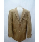 NEW OSCAR LEATHER LIKE JACKET TAN/LIGHT BROWN Size: L