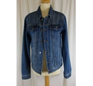 Topman Denim Jacket Blue Size: S