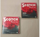 2 x Vintage Open-Reel Magnetic Tapes Mismatched - in Scotch Branded Boxes