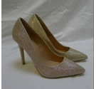 Dorothy Perkins Glittery Court Shoes Gold Size: 4