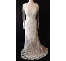 WTOO by Watters, ivory & light beige illusion wedding dress, size 10