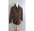 Mainpol Lined suede leather jacket brown Size: XXL