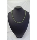 Vintage green glass beaded necklace