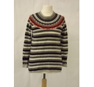 Clements Ribeiro fair isle merino wool jumper nordic grey red black Size: 12