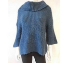 Marks and Spencer Wool Mohair Blend Jumper Blue Size: 14