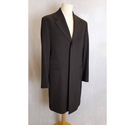 Paul Smith Mens Long Smart Coat Size 40 Dark Brown Size: M