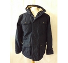 Regatta padded outdoor coat waterproof hooded fleece lined navy blue Size: M