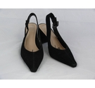 M&S Marks & Spencer court shoes with open heel black Size: 6.5