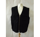 BNWT ASOS denim waistcoat jacket utility punk fishing plain black Size: L