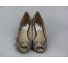 Michael Kors open toe court heels/pumps grey snake Size: 9.5
