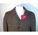 Dunn & Co Harris Tweed overcoat green Size: M