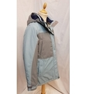 Lands End Hooded Squall Jacket Blue & Grey Size: S