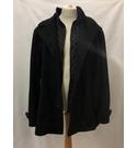 M&S Collection Mens Heavy Wool Mix coat Black Size: XXL