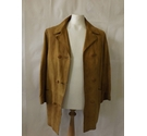 Vintage Zohair suede leather overcoat smart jacket fitted tan brown 70s Size: M